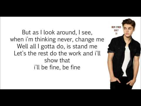 Justin Bieber - Yellow Raincoat (LYRICS)