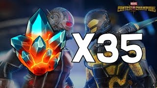 35x Premium Hero Crystal Opening! - 22nd Birthday Edition - Marvel Contest Of Champions