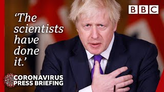 Boris Johnson hails Covid vaccine but warns it is 'not game over' ???? @BBC News live - BBC