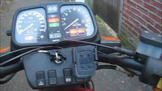 Drive to my work on my BMW K75  -4C cold start