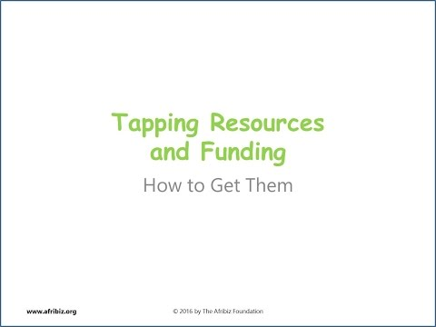 Tapping Resources and Funding for Ventures and Projects in Africa