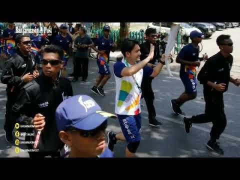Obor Asian Games Tiba Di Kalsel Kota Banjarmasin Senin (30-7-18