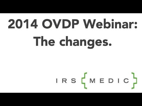 2014 OVDP Webinar UPDATED 7/17/2014