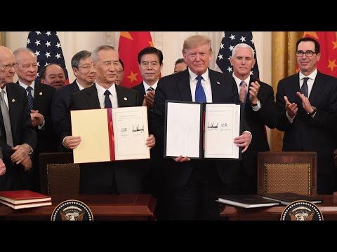 President Trump Signs Phase-One Trade Deal With China