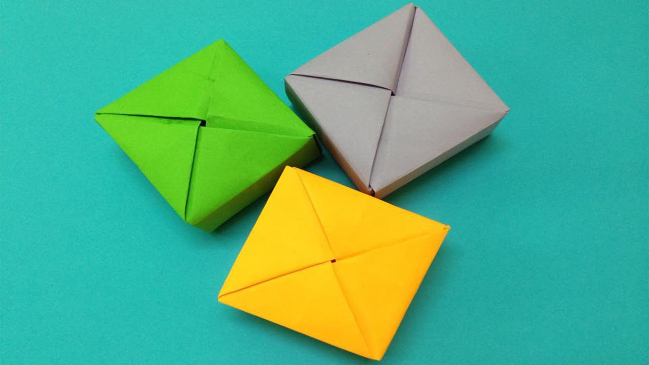 How to make a paper box | Easy origami paper box for ...
