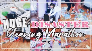 TOTAL DISASTER CLEANING MARATHON 2020 | MESSY HOUSE TRANSFORMATION | HUGE MESS CLEAN WITH ME