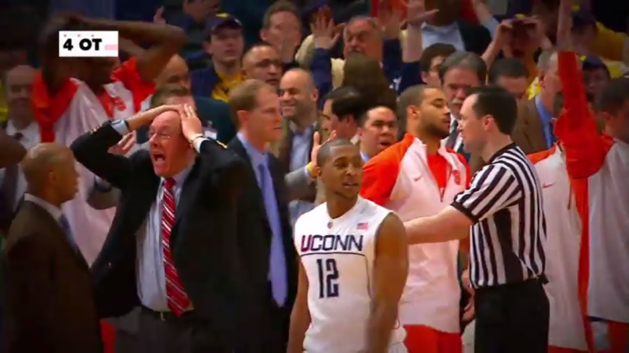 Re Live Syracuse And Uconn S Epic 6 Ot Game In 2009 Espn Youtube