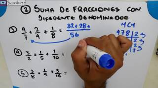 Suma De Fracciones Con Diferente Denominador Ejercicios Fracciones Youtube