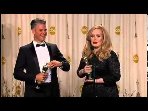 Adele and Paul Epworth Interview Oscars 2013
