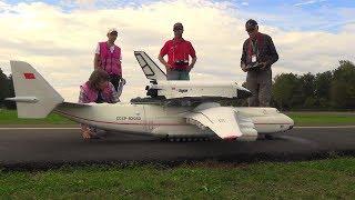 Decoupling RC Spaceship from AN-225 Antonov scale RC model Airplane