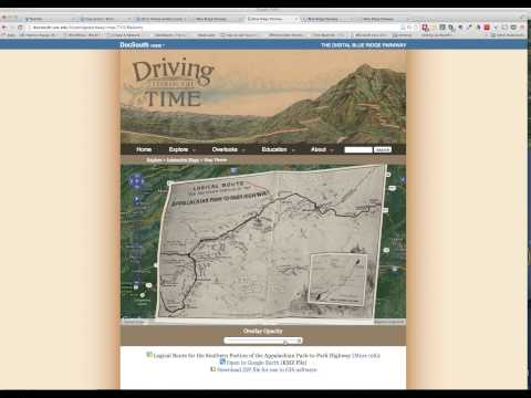 Routing the Blue Ridge Parkway,1934: Using Georeferenced Historic Maps to Visualize the Alternatives