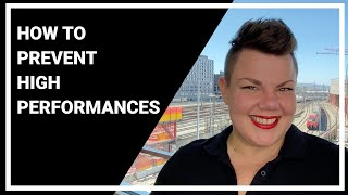 Five Tips for Low Performances ;)