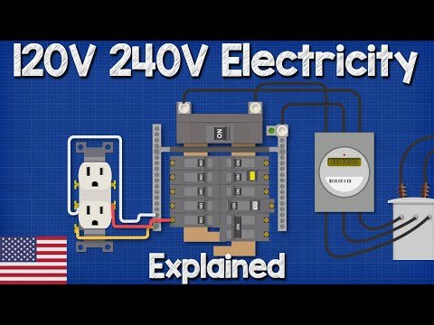 120v 240v electricity explained split phase 3 wire youtube 110v service diagram house wiring diagram 110v #15