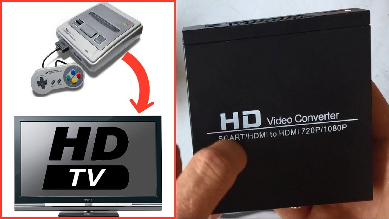 Hd Video Converter Convertisseur Peritel Vers Hdmi Et Console Retro En Hd