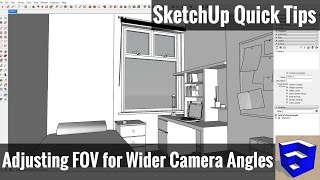 This SketchUp quick tip will teach you to adjust your field of view...