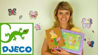 Видео для детей. Учимся делать цветочную аппликацию Джеко (Djeco Toys)(Видео для детей с развивающим игровым набором от французкой компании Джеко Djeco. Ведущая Люда покажет детям..., 2015-07-14T17:58:47.000Z)