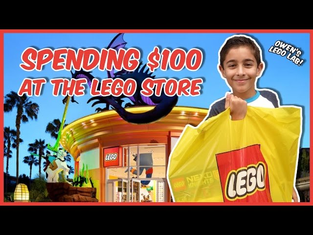 LEGO STORE SHOPPING SPREE + MINIFIG GIVEAWAYS!
