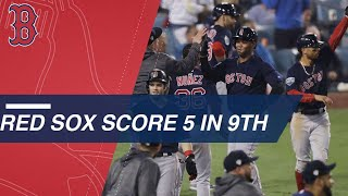 Red Sox score 5 in pivotal 9th inning of Game 4