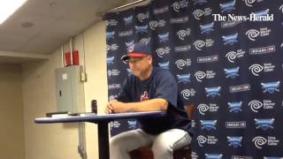 Indians manager Terry Francona talks about placing Jason Giambi on the disabled list.