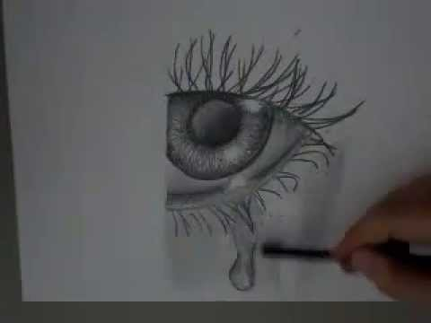 speed drawing crying eye weinendes auge youtube. Black Bedroom Furniture Sets. Home Design Ideas