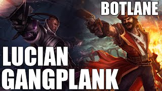 Patch 4.12 Lucian Works with Anything! Lucian Gangplank Botlane!