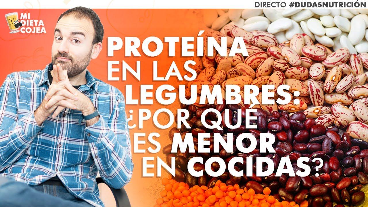 Proteína y legumbres cocidas ¿por qué tienen menos gramos de prote?