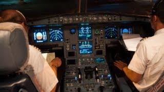 Airbus A330-200 Cockpit Garuda Indonesia