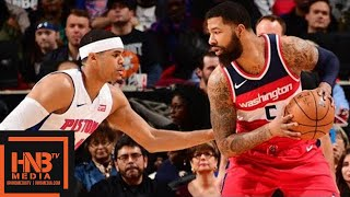 Washington Wizards vs Detroit Pistons Full Game Highlights / Jan 19 / 2017-18 NBA Season