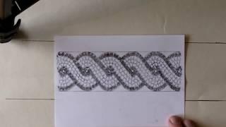 Quick Draw double guilloche border pattern