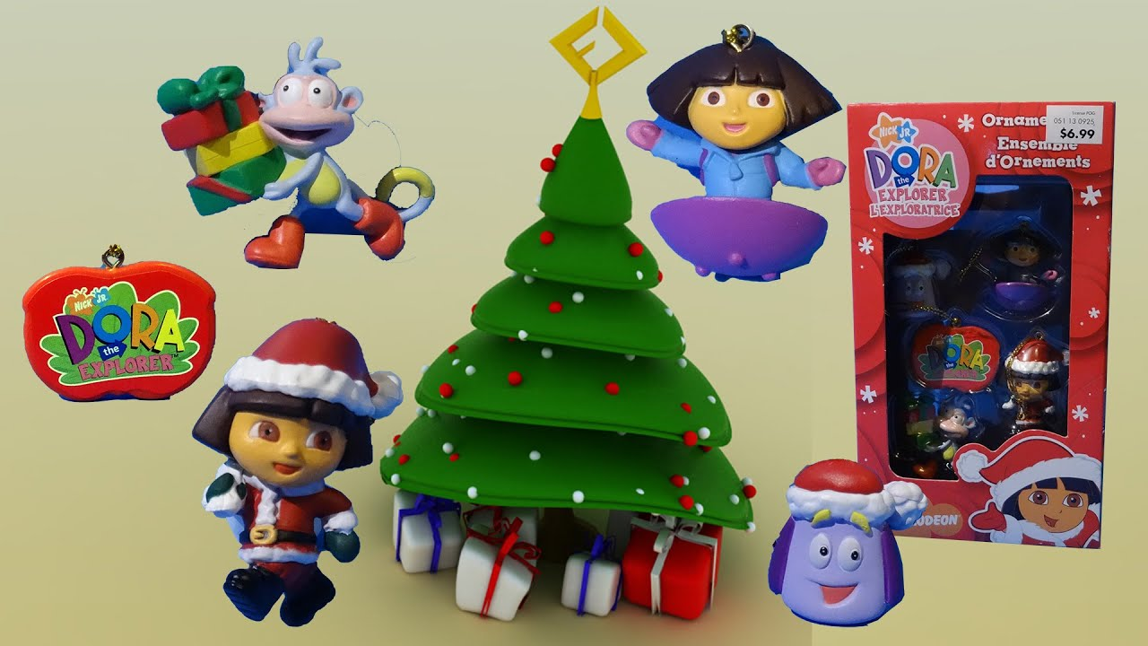 Just For Xmas Super Cute Dora The Explorer Christmas Ornaments
