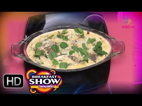 Breakfast Show - Brown Rice Upma & Palak Rita - 18th January 2016 - బ్రేక్ ఫాస్ట్ షో – Full Episode
