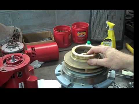 Pump seal change repair rebuild tutorial how to disassemble coupled motor  mounted 4280 4380 1531