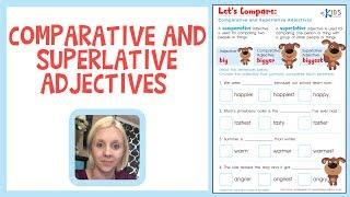 Comparative and Superlative Adjectives | Grammar Worksheets | Kids Academy