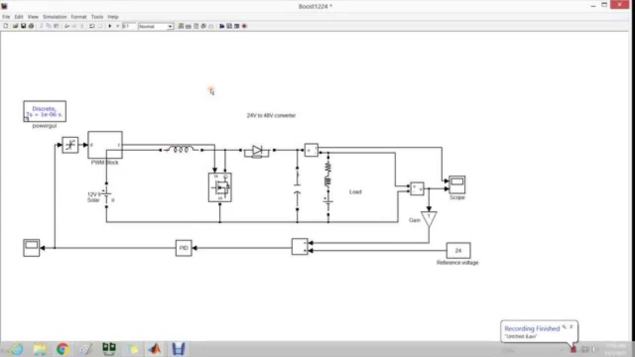 Boost Converter For Dc Motor Load Simulation In Simulink