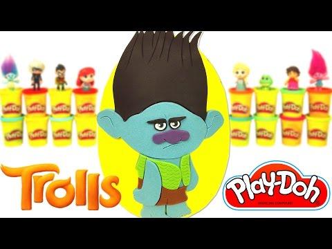 Huevo Sorpresa Gigante de Ramón de la pelicula Trolls en Español de Plastilina Play Doh