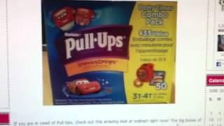 HOT WALMART DEAL - HUGGIES PULL-UPS 46-50 CT $8.97!!!!!