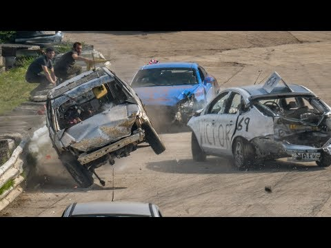 Banger Racing Angmering Oval Raceway Caravan Bangers 22nd April 2019