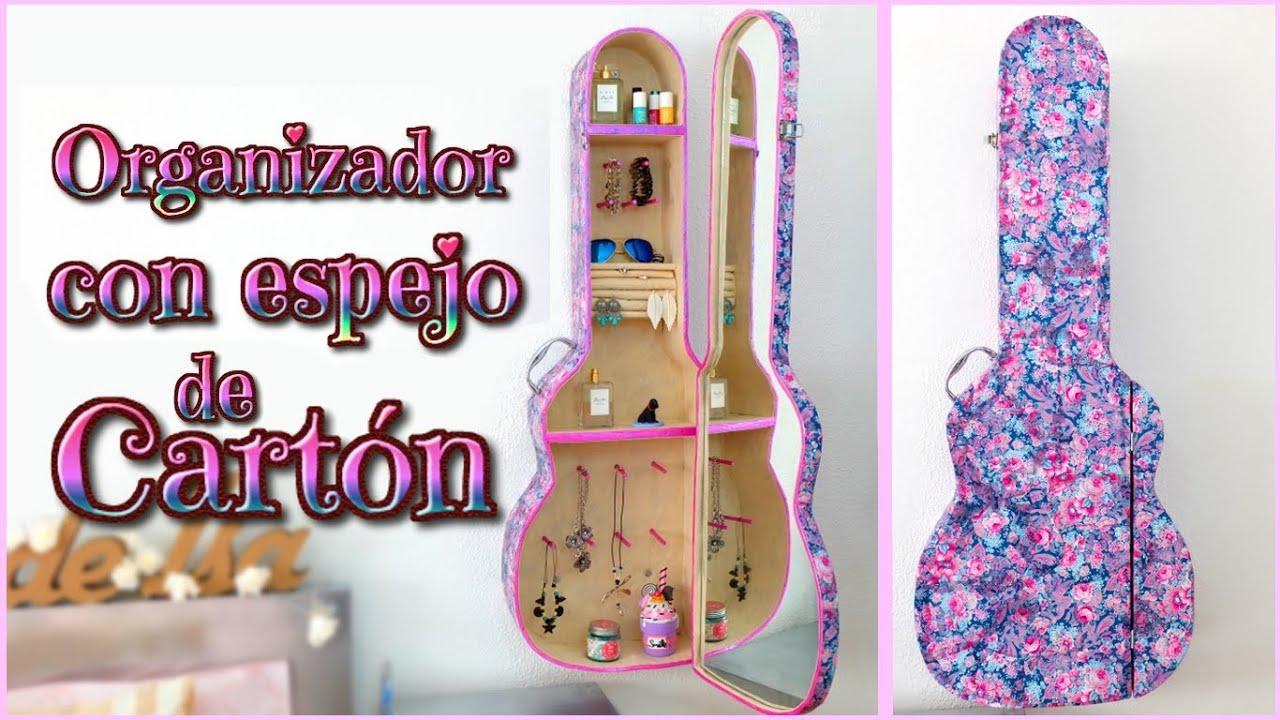 Como hacer un joyero de carton en forma de guitarra youtube - Manualidades para decorar tu cuarto ...