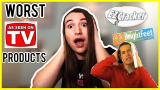 REACTING TO THE WORST INFOMERCIALS/AS SEEN ON TV PRODUCTS