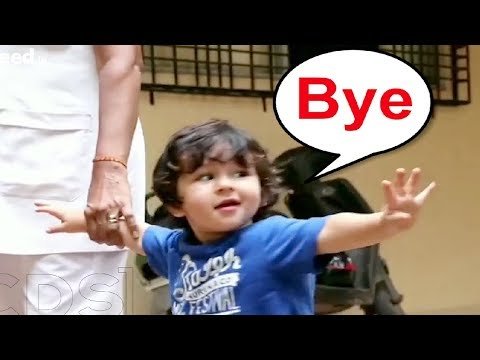 Kareena Kapoor Son Taimur Ali Khan Saying Bye To Media