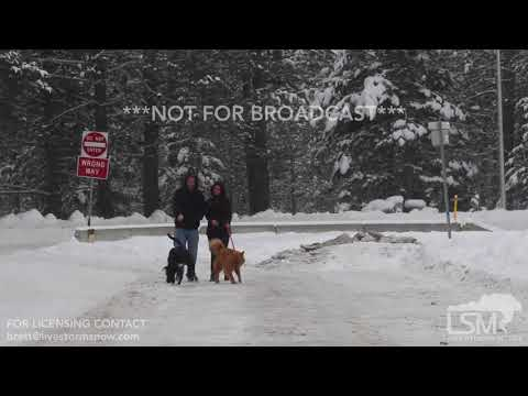 12-28-2017 Leavenworth, Washington - Winter Storm, Bad Road Conditions, Snow Plows, Snow Activities,
