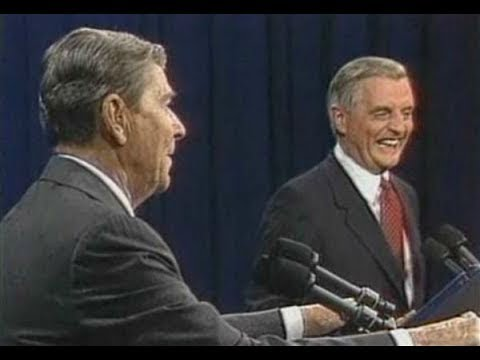 Image result for image, photo, picture, reagan, mondale debate, laughing