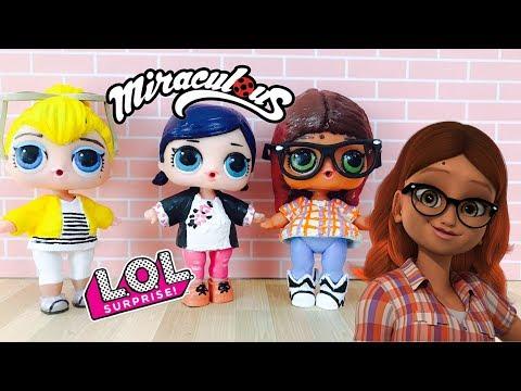 Poupée LOL Surprise Alya Miraculous Ladybug DIY Custom LOL Surprise Doll Tutorial