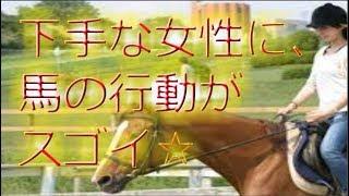 【乗馬】馬に乗るのが女性 馬がとった行動がyoutubeで話題!