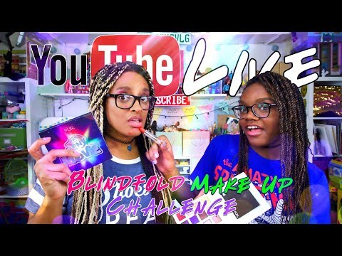 YouTube LIVE with the Froggy's   Q&A   Fan Mail   Blind MakeUp Challenge