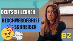 Deutsch lernen: B2 Beschwerdebrief schreiben