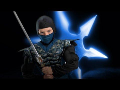 Cool Ninja u0026 Samurai Kids Costume & Cool Ninja u0026 Samurai Kids Costume - YouTube