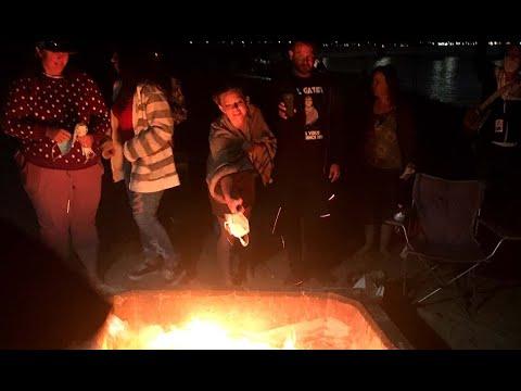 'Burn Your Mask Bonfire' at Mission Bay Park