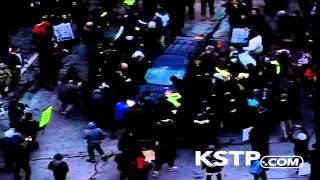 RAW: Car Drives Through Protest in Minneapolis