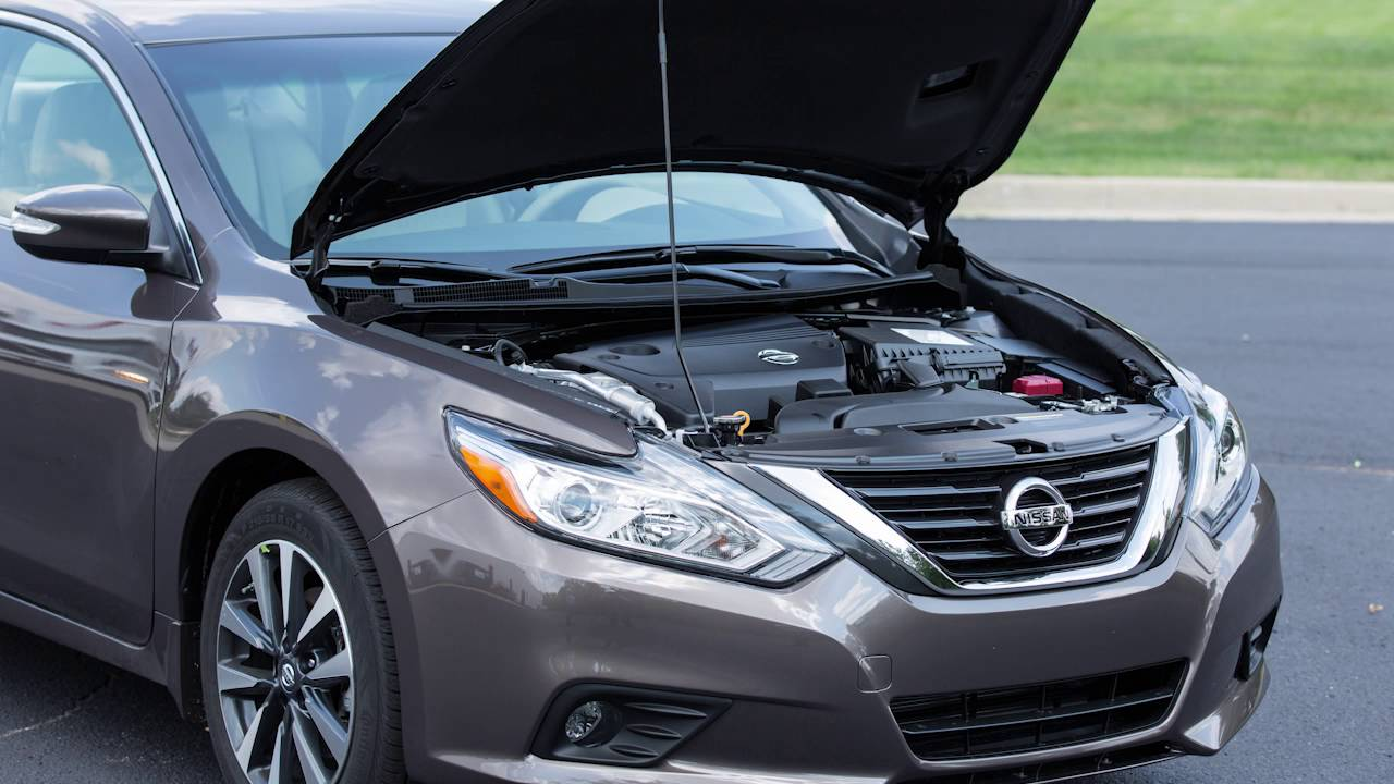 2017 Nissan Altima - Hood Release - YouTube